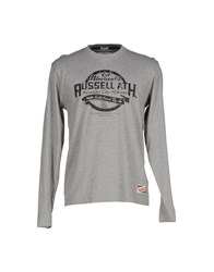 Russell Athletic Topwear T Shirts Men Grey