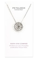 Dogeared Women's Petalbox North Star Compass Pendant Necklace Nordstrom Exclusive Silver