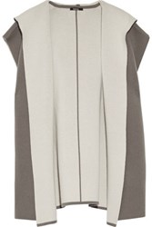 Raoul Reversible Wool And Cashmere Blend Hooded Vest Gray