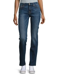 7 For All Mankind Kimmie Straight Leg Jeans Mel Rose