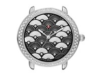 Michele Serein 16 Diamond Black Fan Diamond Dial Watch Black Watches