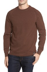 Thaddeus Men's Stefano Long Sleeve Raglan T Shirt Chestnut
