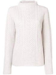 Hemisphere Cashmere Cable Knit Sweater White