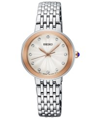 Seiko Women's Crystal Stainless Steel Bracelet Watch 28.5Mm No Color