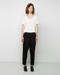 Public School Double Waistband Pant Black