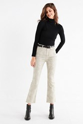 Bdg Kick Flare High Rise Cropped Jean A Snake Taupe