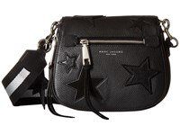 Marc Jacobs Star Patchwork Small Saddle Bag Black Multi Shoulder Handbags
