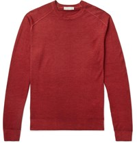 Etro Slim Fit Wool Sweater Red