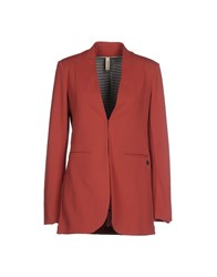 Souvenir Clubbing Suits And Jackets Blazers Women Brick Red