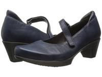 Naot Footwear Muse Ink Leather Women's Flat Shoes Blue