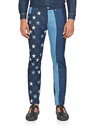 Givenchy American Flag Denim Pants Night Blue