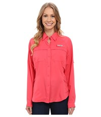 Columbia Airgal Long Sleeve Shirt Bright Geranium Women's Long Sleeve Button Up Red
