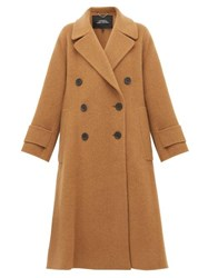 Marc Jacobs Double Breasted Alpaca Blend Trapeze Coat Camel