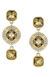 Women's Louise Et Cie 'Drama' Pave And Cushion Cut Crystal Drop Earrings