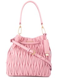Miu Miu Textured Satchel Pink Purple