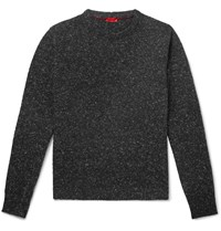 Isaia Donegal Cashmere Blend Sweater Gray