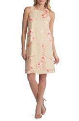 Eci Women's Embroidered Shift Dress Coral Nude