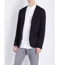 The Kooples Fitted Stretch Wool Jacket Black