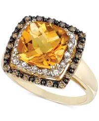 Le Vian Citrine 3 5 8 Ct. T.W. White Sapphire 1 6 Ct. T.W. And Diamond 1 5 Ct. T.W. Ring In 14K Gold Yellow