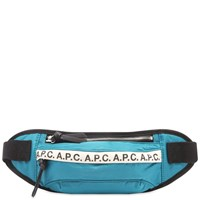 A.P.C. Tape Logo Waist Bag Blue