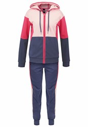 Adidas Performance Young Tracksuit Utility Blue Vapour Pink Joy