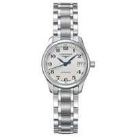 Longines L21284786 Women's Master Collection Automatic Date Bracelet Strap Watch Silver