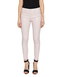 Ted Baker Katarie Coated Skinny Jeans In Baby Pink