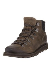 Sorel Madson Major Buffalo Waterproof Leather Hiker Boot Brown