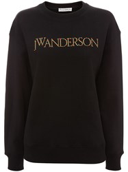 J.W.Anderson Jw Anderson Embroidered Logo Sweatshirt Black