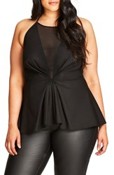 City Chic Plus Size Women's Party Time Halter Top