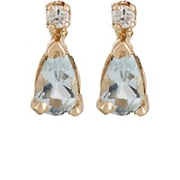 Loren Stewart Women's Diamond And Aquamarine Stud Earrings No Color