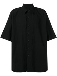 Forme D'expression Oversized Short Sleeve Shirt Black