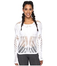 Alo Yoga Wanderer Long Sleeve White Women's Clothing