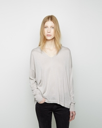 6397 Slouchy V Neck Grey