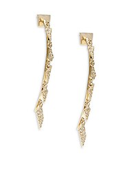 Alexis Bittar Elements Swarovski Crystal And 10K Yellow Gold Danglers