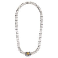 Adele Marie Magnetic Clasp Rope Necklace Silver