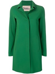 Herno Classic Single Breasted Coat Green