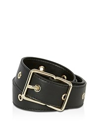 Karen Millen Soft Eyelet Belt Black