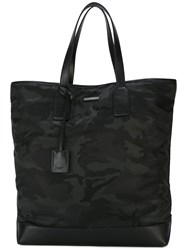 Saint Laurent Camouflage Tote Men Polyimide One Size Black