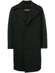 Neil Barrett Oversized Single Breasted Coat Black