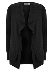Mint Velvet Double Front Cardigan Black