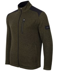 Greg Norman For Tasso Elba Men's Big And Tall Fleece Jacket Only At Macy's Ultra Olive