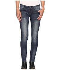 Rock And Roll Cowgirl Low Rise Skinny Jeans In Dark Vintage W0s9604 Dark Vintage Women's Jeans Navy