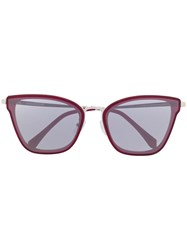 Zadig And Voltaire Cat Eye Shaped Sunglasses Red