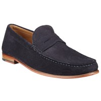 John Lewis Lloyd Suede Penny Loafers Space Navy