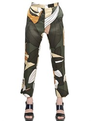 Marni Printed Cotton Blend Ottoman Trousers