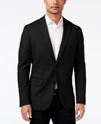 Alfani Men's Classic Fit Heathered Knit Blazer Only At Macy's Deep Black