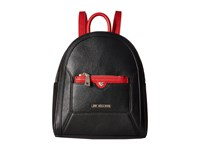 Love Moschino Detachable Pocket Backpack Black Red
