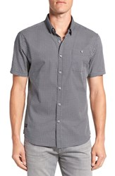 7 Diamonds Men's 'Traveller' Trim Fit Short Sleeve Print Woven Shirt