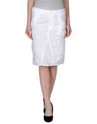 Nolita Knee Length Skirts White